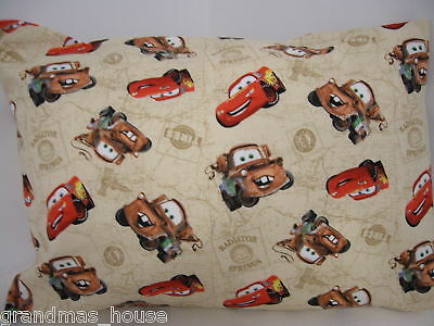 Disney Cars Pillowcase Child Toddler Cot Size Fawn 100% Cotton