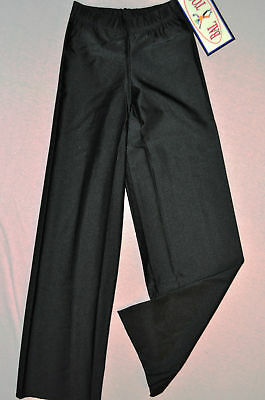 Nwt Bal Togs child toddler or small -black nylon lycra jazz pants trousers-#1826