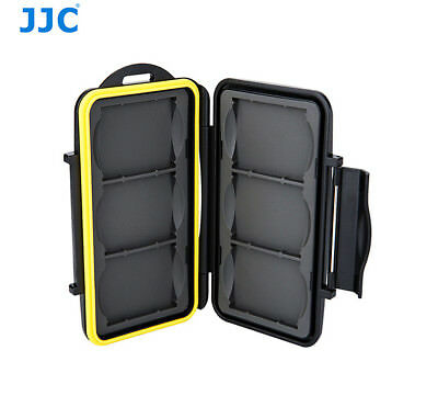 """JJC Water-Resistant Anti-shock Memory Card Case for fits 6 x CF Cards """"US seller"""