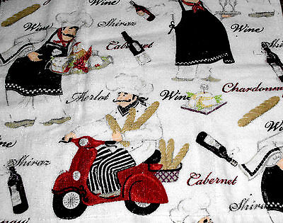 Kitchen Dish Towels W/ Crochet Tops - Chef Thick