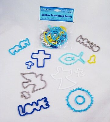 12 Packs of Inspirational Religious Silly Bands 288 pcs