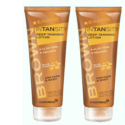 2x Tannymaxx Brown Exotic Intansity Deep Tanning Lotion