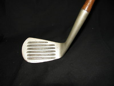 Old antique wood shaft golf club rare backspin mashie