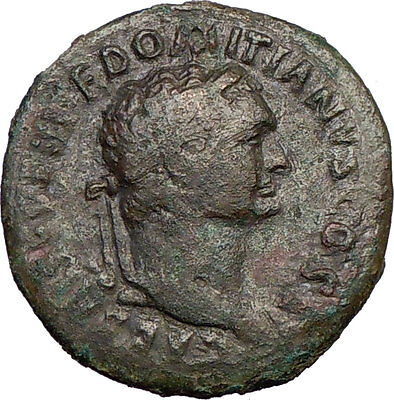 DOMITIAN 73AD  Rare Large Ancient Roman Coin Spes HOPE Goddess  i21721