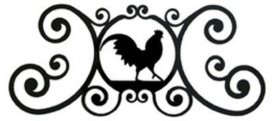 Rooster Over Door Plaque by Village Wrought Iron New