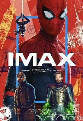 """Marvel SPIDER-MAN FAR FROM HOME 2019 IMAX DS 2 Sided 27x40"""" Movie Poster + Bonus"""