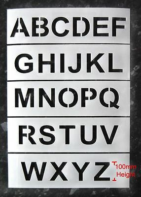 A-Z 100mm sized Letter Industrial Stencils