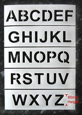 A-Z Letters 60mm Industrial Stencils
