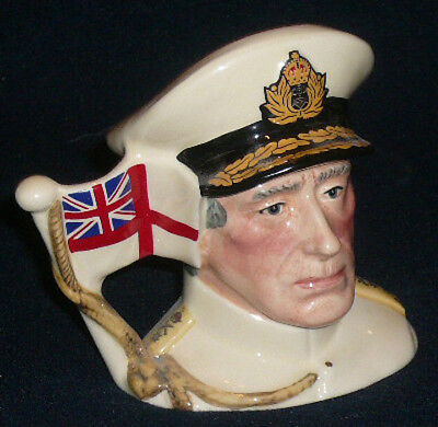 """ EARL MOUNTBATTEN OF BURMA ""- Royal Doulton Sm. Ch.Jug"