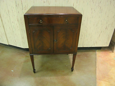 Antique 19th Century Flame Mahogany Nightstand