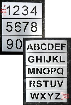25mm Letter and Number Industrial Stencils