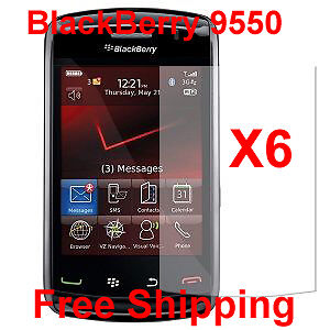 6XClear Screen Protector Blackberry Storm 2 9550/9520