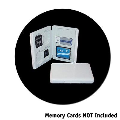 White Universal Memory Card Case Hold 4 SD 1 CF & 2 MMS