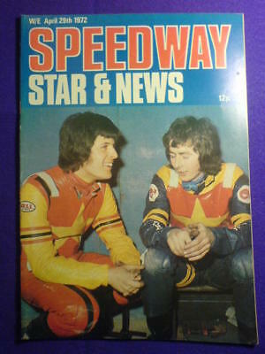 SPEEDWAY STAR AND NEWS - 29 April 1972