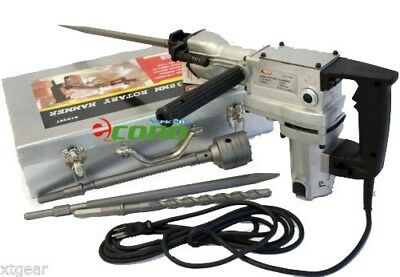 """850W Rotary Hammer Drill 1-1/2"""" with SDS Drill Bits"""
