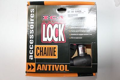 ANTIVOL MOTO Chaine & Cadenas ICA SECURITY QUICK CHAIN