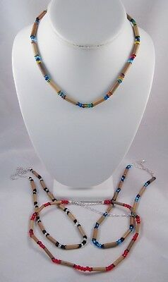 12 Assorted Glass Bead & Bamboo Necklaces #N2529