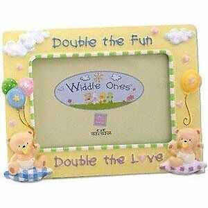 BABY PHOTO FRAME~DOUBLE THE FUN~HOLDS 4X6
