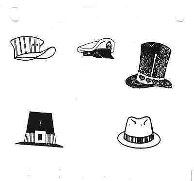 Lady CAT IN A HAT A Purr-fect UNMounted rubber stamp