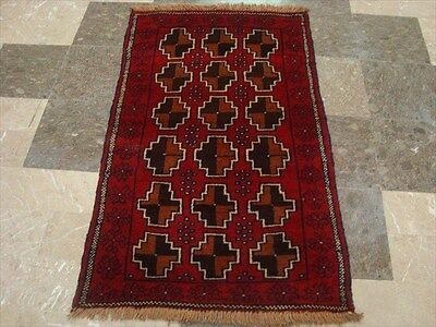 BALAUCHI TRIBAL NOMADIC AFGHAN HAND KNOTTED RUG 4.7x2.7