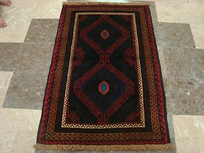 BALAUCHI TRIBAL NOMADIC AFGHAN HAND KNOTTED RUG 4.5x2.1