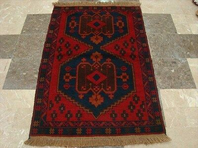 BALAUCHI TRIBAL NOMADIC AFGHAN HAND KNOTTED RUG 4.6x3.0