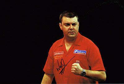 "Wes Newton ""The Warrior"" SIGNED Darts 12x8 Photo AFTAL"
