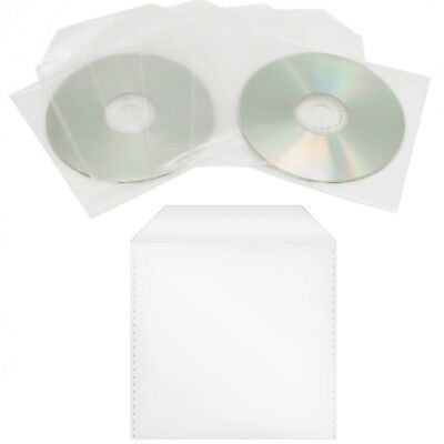 2000 x CD/DVD/BD Nylon Folie Sleeve Hüllen mit Lasche Bluray Disc Sleeves