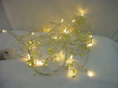 2M Lime Green Bead Garland with 20 Warm White LED(L101)