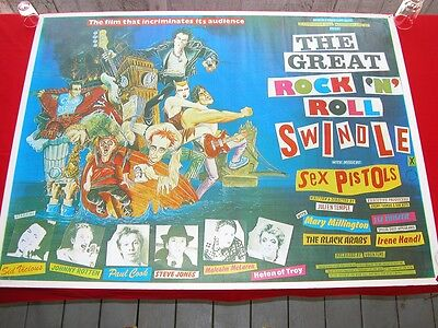 The Sex Pistols The Great Rock 'N' Roll Swindle Poster 1980 Excellent Condition
