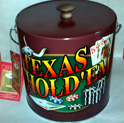 Texas Hold'em Collectible Ice Bucket Rare New with UPC