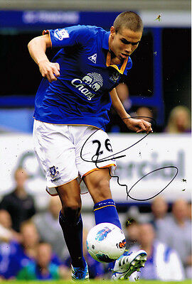 Jack Rodwell HAND SIGNED Everton FC 12x8 Photo AFTAL
