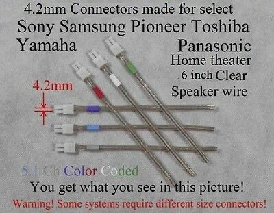 6c 4.2mm speaker connectors made for select sony/samsung/Panasonic Home theater
