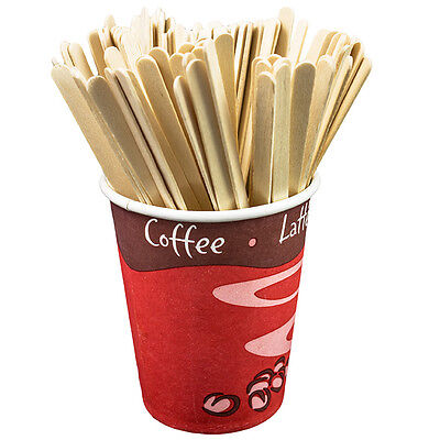 x1000 wooden coffee tea drink stirrers craft sticks chocolate hot disposable eco