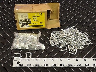 Duro Dyne Damper Rod Clips with Square Nut U-Bolt Qty-10 Anchor Clamp  H52