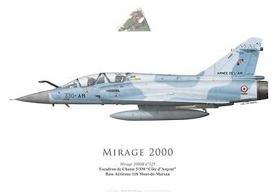 "Print Mirage 2000B, EC 5/330 ""Côte d'Argent"", French Air Force (G. Marie)"