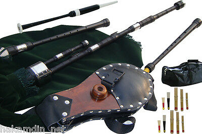 Border Pipes, Scottish Lowland pipes, Reel pipes, or Half Longs with Bellows