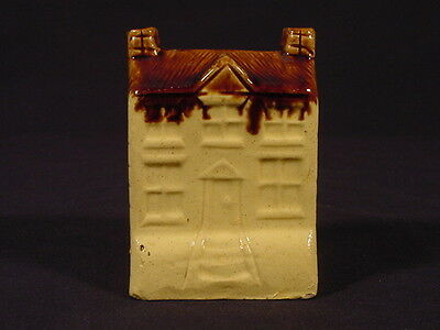 RARE SMALL 1800s HOUSE BANK ROCKINGHAM YELLOW WARE MINT