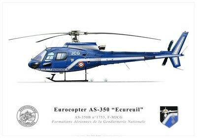 Print AS350 Ecureuil, Gendarmerie Nationale (par U. Crisponi)