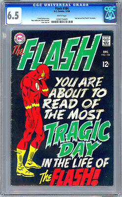 Flash #184 Cgc 6.5 <> Classic Black Cover <> 1968