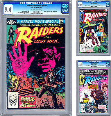 Raiders Of The Lost Ark #1-3 <> Cgc Vf-Nm <> Complete Movie Adaptation <> 1981