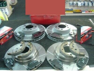 BMW 840ci (E31) BRAKE DISC CROSS DRILLED GROOVED PADS HB SHOES FRONT REAR