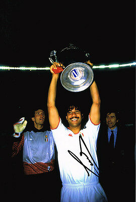 Ruud Gullit SIGNED Holland European Champions 12x8 Photo AFTAL