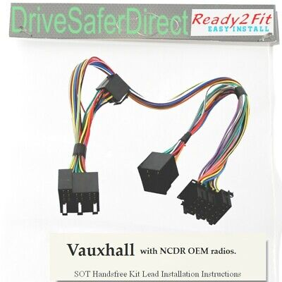 ISO-SOT-8404-n for Parrot CK3100,CK3000,Evo Vauxhall Radios CD30,CDC40