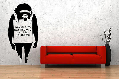❗️Banksy Monkey Laugh Now Wall Sticker Vinyl Decal Removable Wall Tattoo Decor❗️