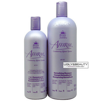 Avlon Affirm 5 in 1 Reconstructor 16oz/ 475ml + Normalizing Shampoo 32oz/ 950ml