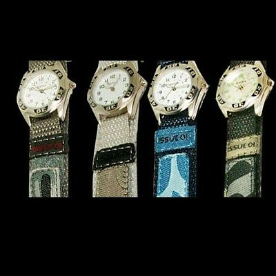 Childrens/Kids/Boys Hook And Loop Strap Army Camouflage  REFLEX WATCH