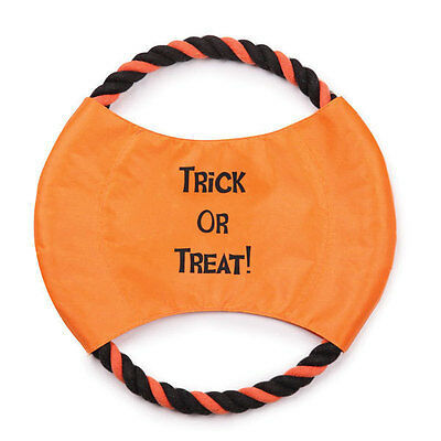 Zanies Trick Or Treat Rope Flyer Dog Toy Halloween New!