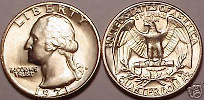 1971-D Brilliant Uncirculated Washington Quarter~Free Shipping Included~