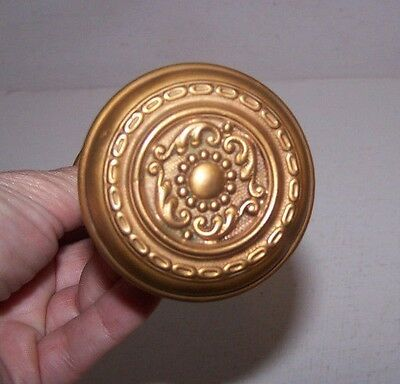Vintage Brass Door Handles Double Ornate, Double Sided